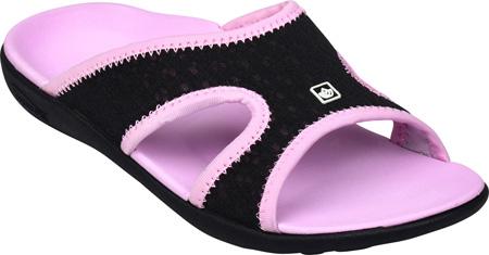 Women's Spenco Breeze Slide, Black/Pink Mesh, large, image 1