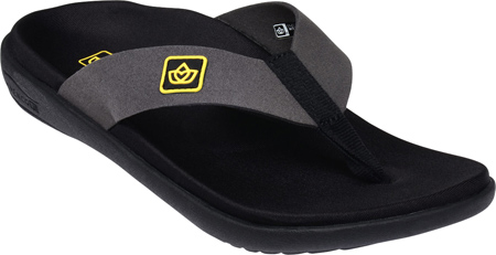 Women's Spenco Pure Sandal, Black Synthetic Suede, large, image 1