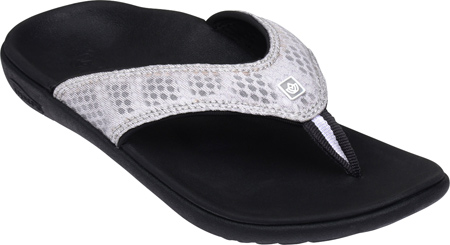 Women's Spenco Breeze Sandal, Black/Silver Mesh, large, image 1