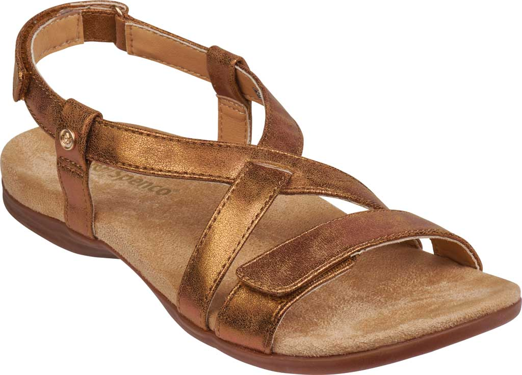 Women's Spenco Cross-Strap Sandal, Tan Synthetic Polyurethane, large, image 1