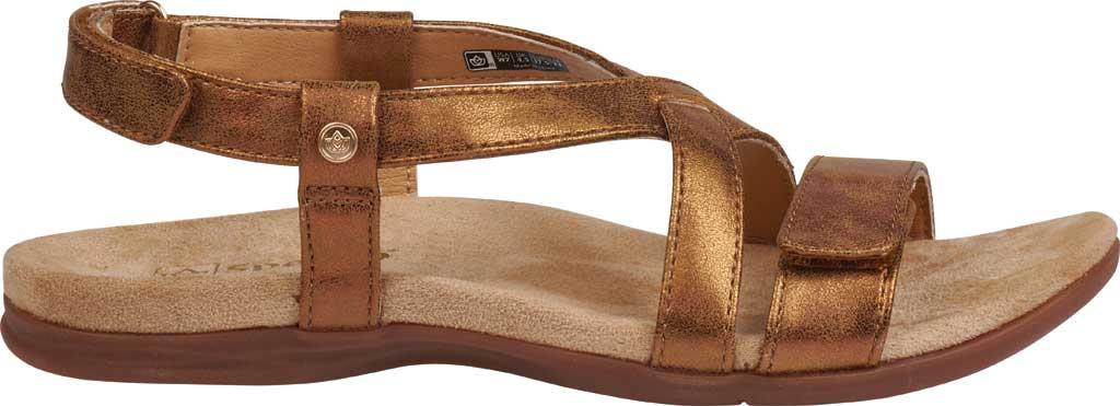 Women's Spenco Cross-Strap Sandal, Tan Synthetic Polyurethane, large, image 2