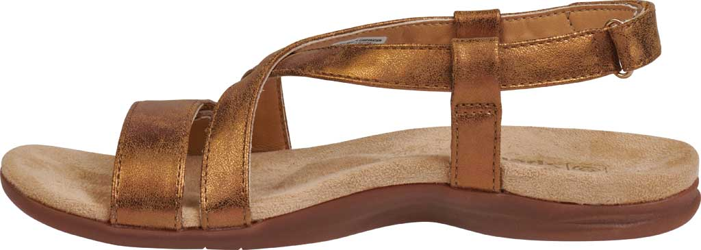 Women's Spenco Cross-Strap Sandal, Tan Synthetic Polyurethane, large, image 3