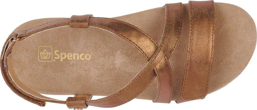 Women's Spenco Cross-Strap Sandal, Tan Synthetic Polyurethane, large, image 4