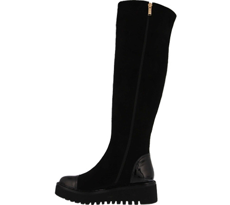 Women's Azura Quappa Boot, Black Micro Suede, large, image 3
