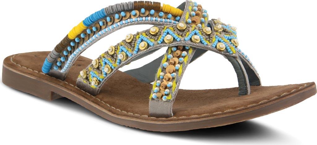 Women's Azura Triage Thong Sandal, Grey Multi Leather, large, image 1