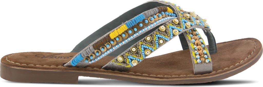 Women's Azura Triage Thong Sandal, Grey Multi Leather, large, image 2