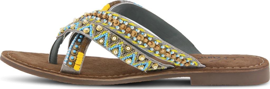 Women's Azura Triage Thong Sandal, Grey Multi Leather, large, image 3