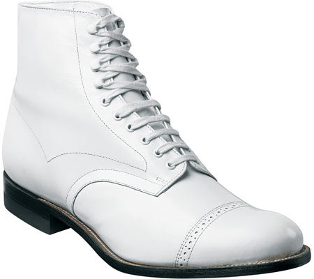 Men's Stacy Adams Madison 00015, White Kidskin Leather, large, image 1