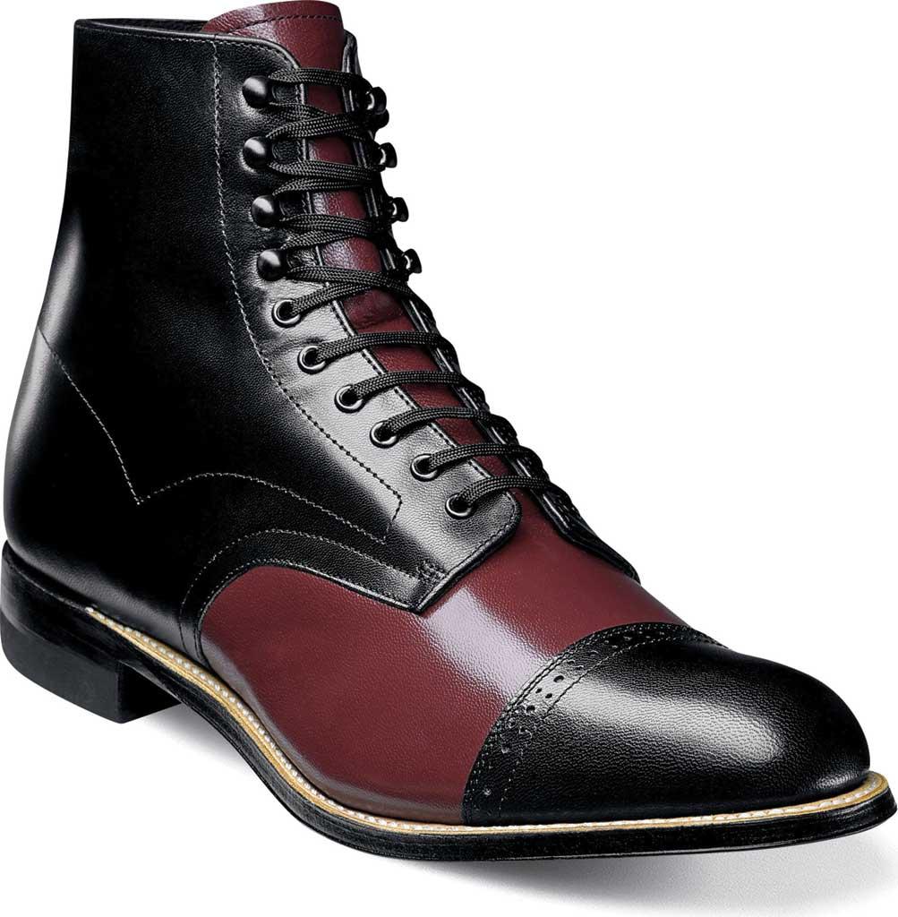 Men's Stacy Adams Madison 00015, Black/Oxblood Kidskin Leather, large, image 1
