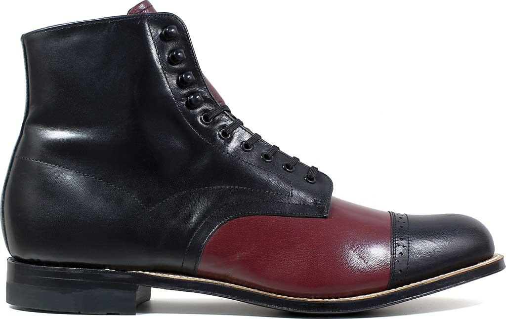 Men's Stacy Adams Madison 00015, Black/Oxblood Kidskin Leather, large, image 2