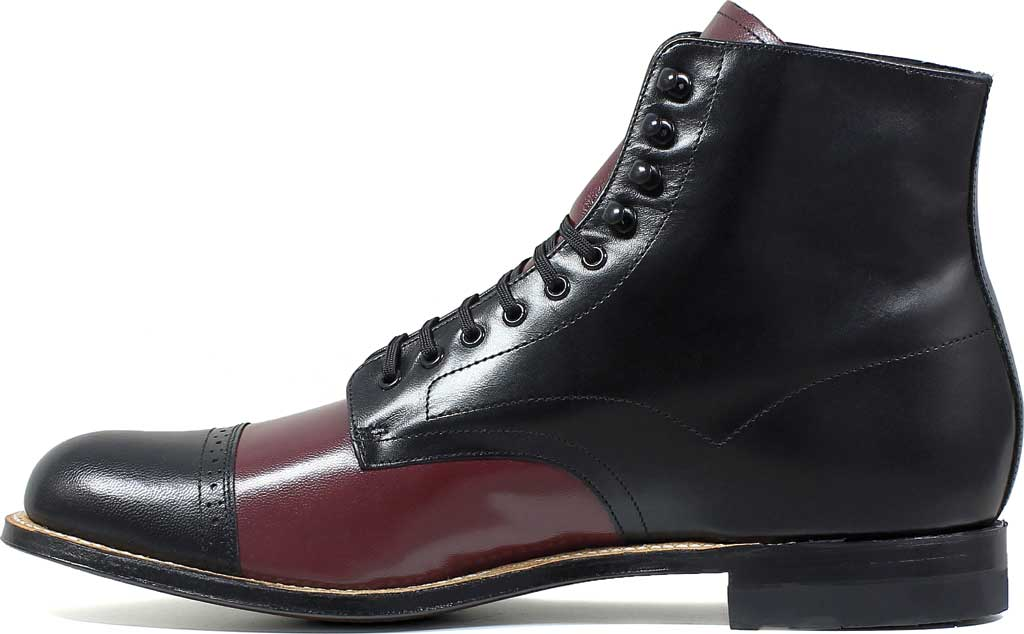 Men's Stacy Adams Madison 00015, Black/Oxblood Kidskin Leather, large, image 3