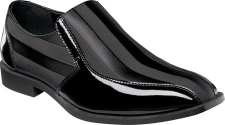 Men's Stacy Adams Regalia 24743, Black Patent Leather/Fabric, large, image 1