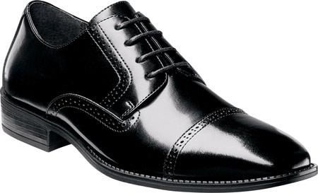 Men's Stacy Adams Abbott Cap Toe Oxford 20159, Black Leather, large, image 1