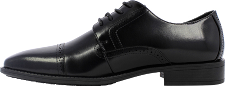 Men's Stacy Adams Abbott Cap Toe Oxford 20159, Black Leather, large, image 3