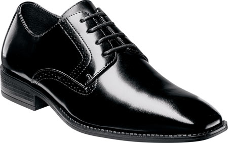 Men's Stacy Adams Ardell Plain Toe Oxford 20162, Black Leather, large, image 1