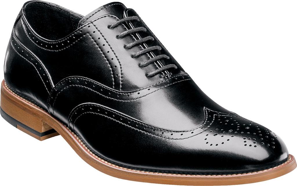 Men's Stacy Adams Dunbar Wingtip Oxford, Black Leather, large, image 1