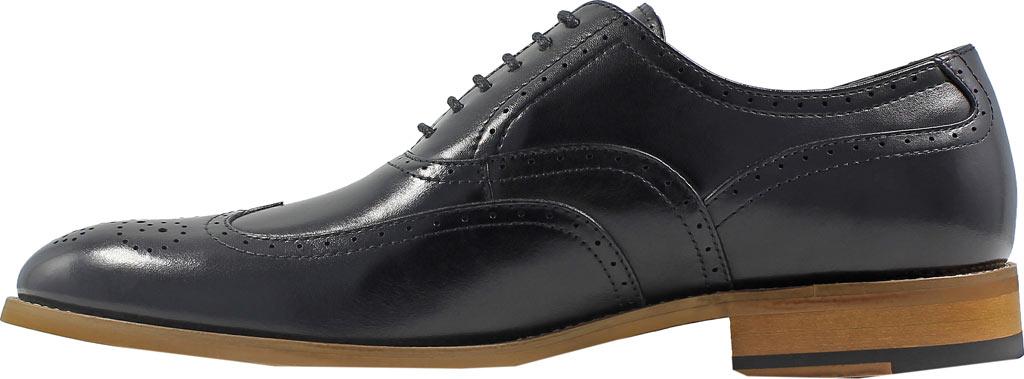 Men's Stacy Adams Dunbar Wingtip Oxford, Black Leather, large, image 3