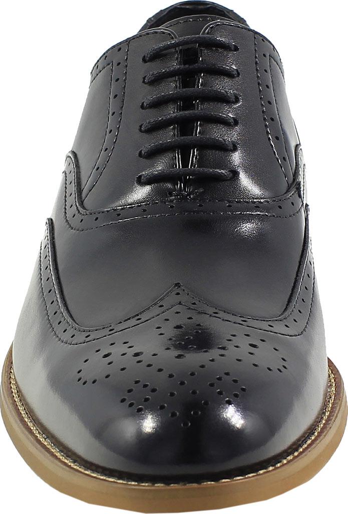 Men's Stacy Adams Dunbar Wingtip Oxford, Black Leather, large, image 4
