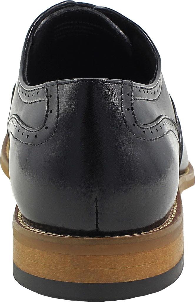 Men's Stacy Adams Dunbar Wingtip Oxford, Black Leather, large, image 5