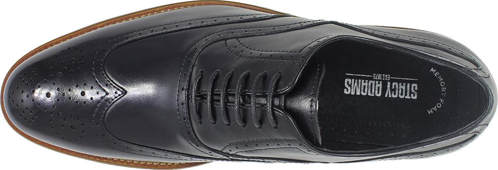 Men's Stacy Adams Dunbar Wingtip Oxford, Black Leather, large, image 6