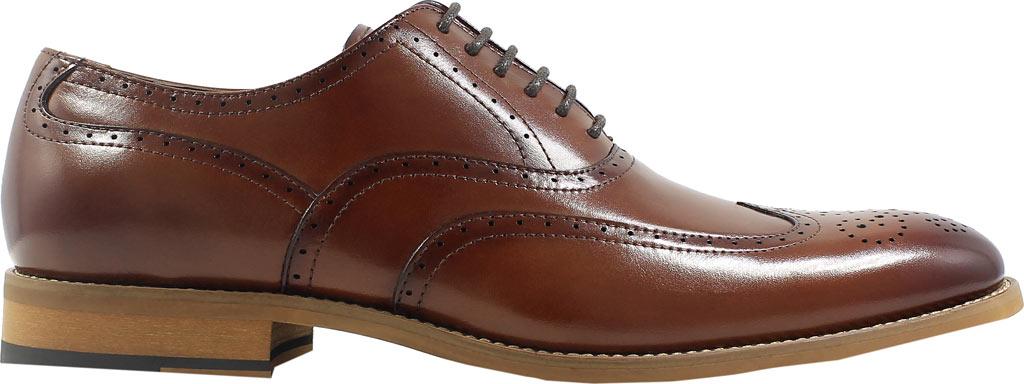 Men's Stacy Adams Dunbar Wingtip Oxford, Cognac Leather, large, image 2