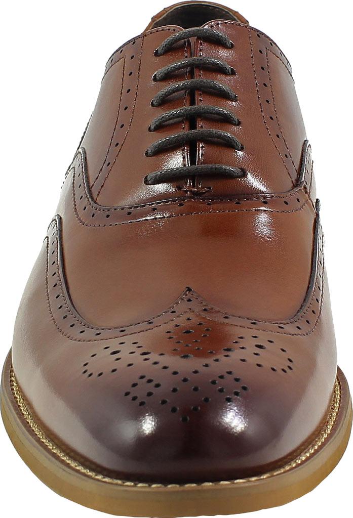 Men's Stacy Adams Dunbar Wingtip Oxford, Cognac Leather, large, image 4