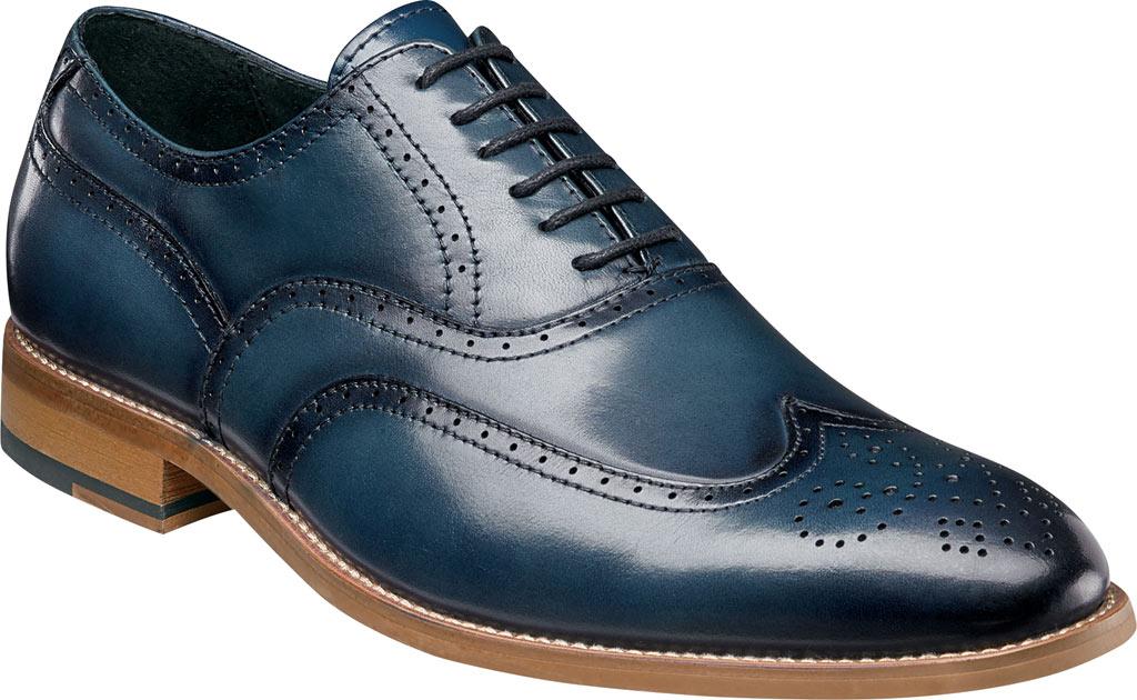 Men's Stacy Adams Dunbar Wingtip Oxford, Indigo Leather, large, image 1