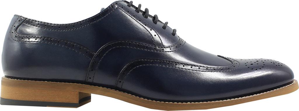 Men's Stacy Adams Dunbar Wingtip Oxford, Indigo Leather, large, image 2