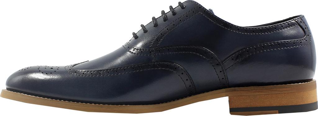 Men's Stacy Adams Dunbar Wingtip Oxford, Indigo Leather, large, image 3