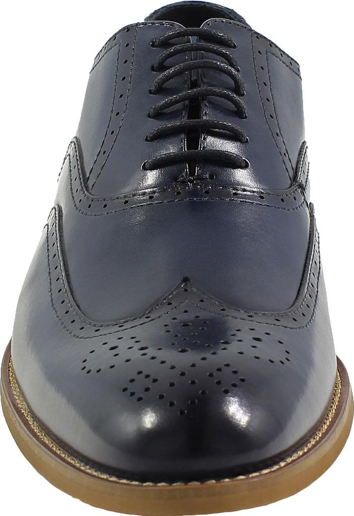 Men's Stacy Adams Dunbar Wingtip Oxford, Indigo Leather, large, image 4