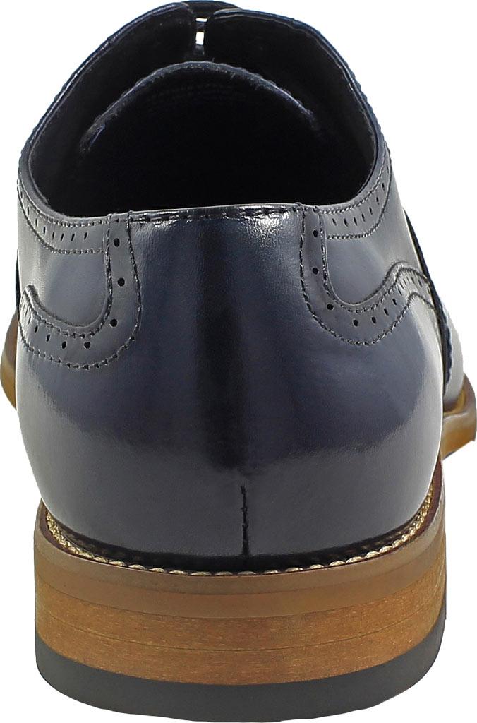 Men's Stacy Adams Dunbar Wingtip Oxford, Indigo Leather, large, image 5