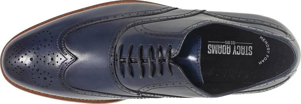 Men's Stacy Adams Dunbar Wingtip Oxford, Indigo Leather, large, image 6