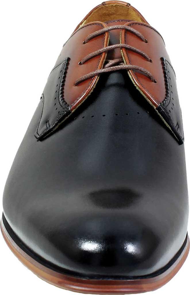 Men's Stacy Adams Savion Plain Toe Oxford 25177, Black/Cognac Smooth Leather, large, image 4