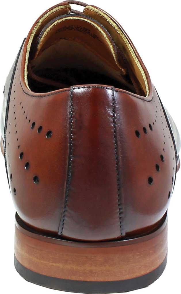Men's Stacy Adams Savion Plain Toe Oxford 25177, Black/Cognac Smooth Leather, large, image 5