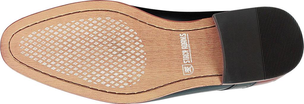 Men's Stacy Adams Savion Plain Toe Oxford 25177, Black/Cognac Smooth Leather, large, image 7
