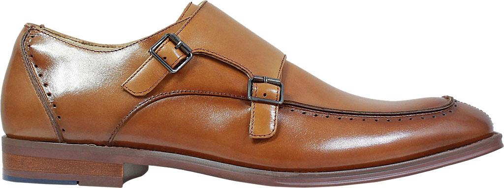 Men's Stacy Adams Baldwin Moc Toe Monk Strap 25188, Tan Smooth Leather, large, image 2
