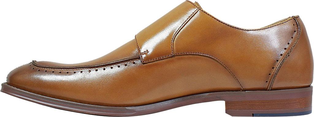Men's Stacy Adams Baldwin Moc Toe Monk Strap 25188, Tan Smooth Leather, large, image 3