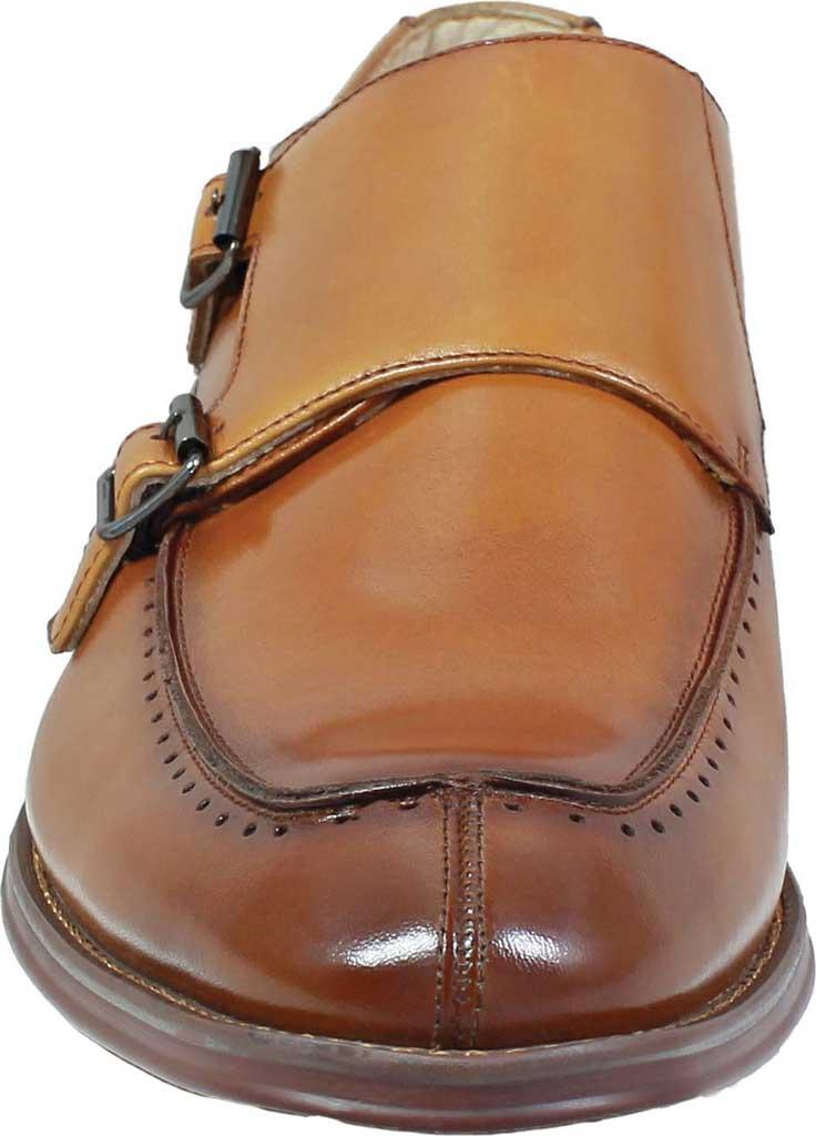 Men's Stacy Adams Baldwin Moc Toe Monk Strap 25188, Tan Smooth Leather, large, image 4