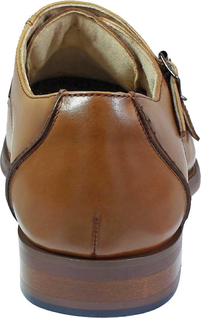 Men's Stacy Adams Baldwin Moc Toe Monk Strap 25188, Tan Smooth Leather, large, image 5