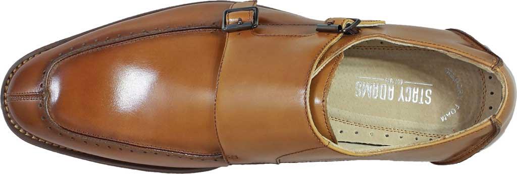 Men's Stacy Adams Baldwin Moc Toe Monk Strap 25188, Tan Smooth Leather, large, image 6