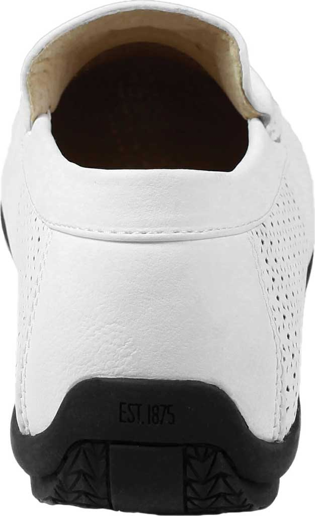 Men's Stacy Adams Cicero Perfed Moc Toe Loafer 25172, White Synthetic, large, image 5