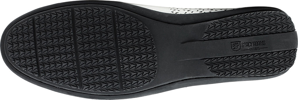 Men's Stacy Adams Cicero Perfed Moc Toe Loafer 25172, White Synthetic, large, image 7