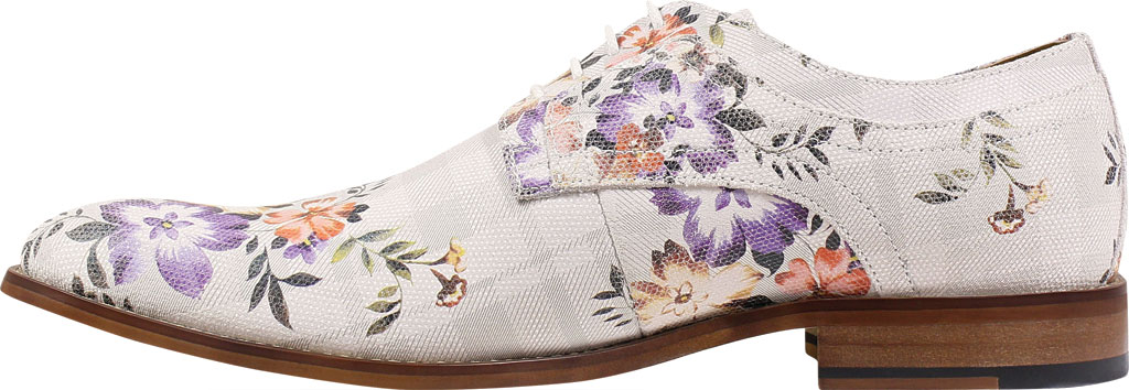 Men's Stacy Adams Dandy Plain Toe Oxford 25164, Lavender Multi Printed Suede, large, image 3