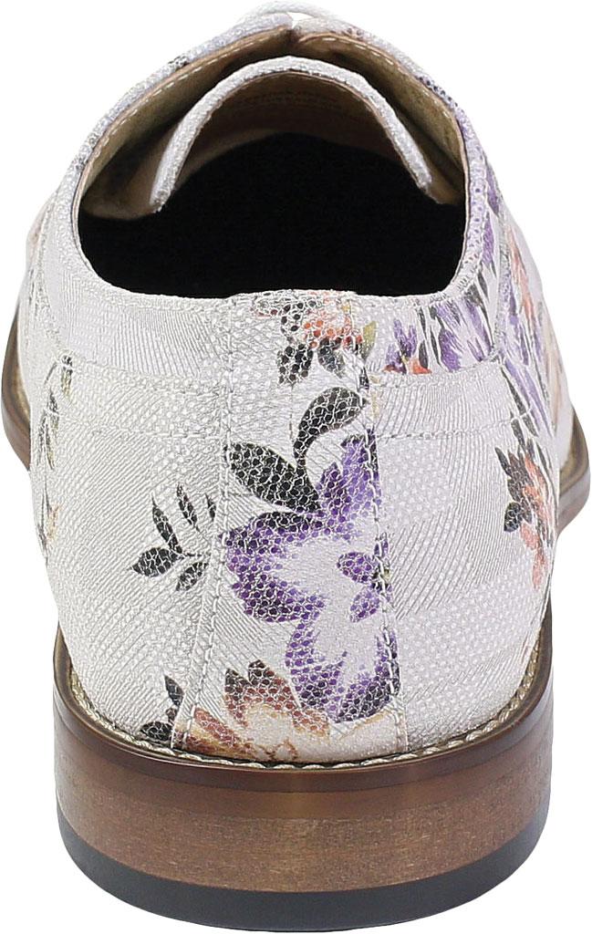 Men's Stacy Adams Dandy Plain Toe Oxford 25164, Lavender Multi Printed Suede, large, image 4