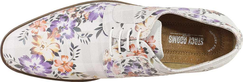 Men's Stacy Adams Dandy Plain Toe Oxford 25164, Lavender Multi Printed Suede, large, image 5