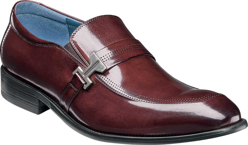 Men's Stacy Adams Jonas Moc Toe Loafer, Burgundy Buffalo Leather, large, image 1