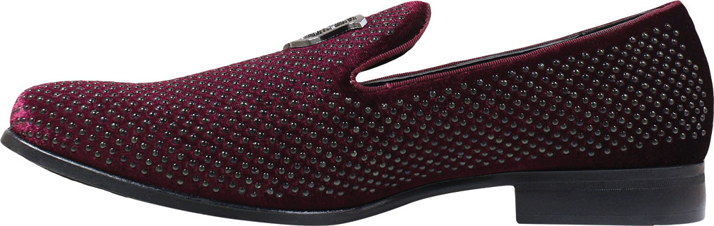 Men's Stacy Adams Swagger Studded Loafer, Black/Gold Studded Fabric, large, image 3