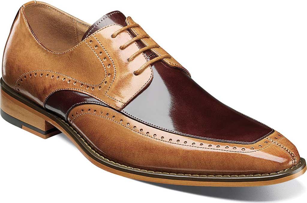 Men's Stacy Adams Sanford Moc Toe Oxford, Tan Multi Buffalo Leather, large, image 1