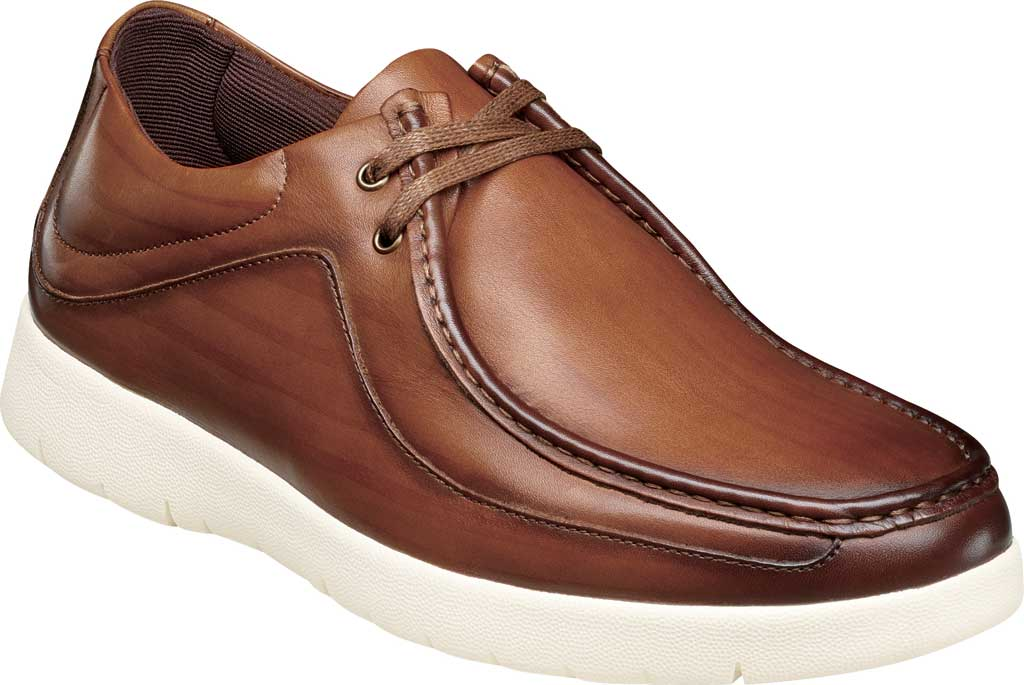 Men's Stacy Adams Hanley Moc Toc Mid Lace, Cognac Burnished Smooth Leather, large, image 1