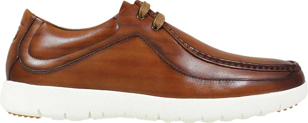Men's Stacy Adams Hanley Moc Toc Mid Lace, Cognac Burnished Smooth Leather, large, image 2